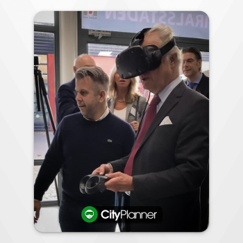 The King of Sweden tries OpenCities Planner VR